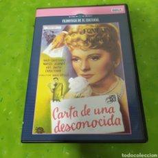 Cine: (S186) CARTA DE UNA DESCONOCIDA (DVD SEGUNDAMANO). Lote 194318270