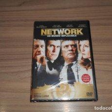 Cine: NETWORK UN MUNDO IMPLACABLE DVD FAYE DUNAWAY PETER FINCH WILLIAM HOLDEN NUEVA PRECINTADA. Lote 257665915