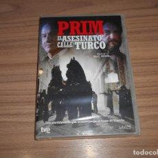 Cine: PRIM EL ASESINO DE LA CALLE DEL TURCO DVD TRONO DE ESPAÑA NUEVA PRECINTADA. Lote 194378771