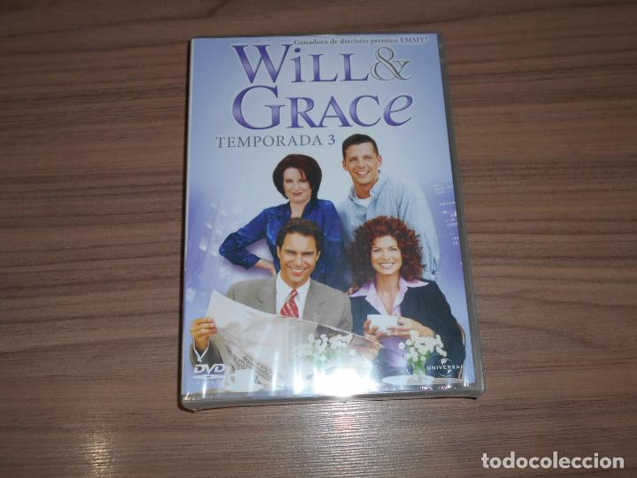 WILL & GRACE TEMPORADA 3 COMPLETA DVD 530 MIN. NUEVA PRECINTADA (Cine - Películas - DVD)