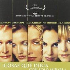 Cine: DVD COSAS QUE DIRIA CON SOLO MIRARLA. Lote 194541671