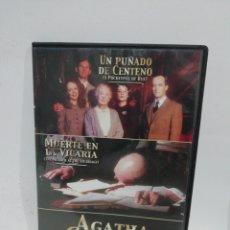 Cine: (DVS 12)AGATHA CHRISTIE VOL3- DVD SEGUNDA MANO TAPA FINA. Lote 194583888