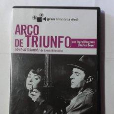 Cine: ARCO DE TRIUNFO- INGRID BERGMAN- CHARLES BOYER- DVD. Lote 194608857