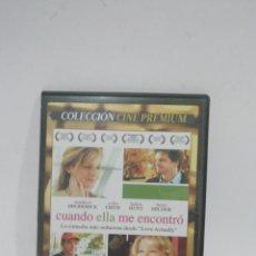 Cine: (DVS 13) CUANDO ELLA ME ENCONTRO - DVD SEGUNDA MANO TAPA FINA. Lote 194617213