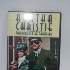 Cine: (DVS 13) ÁGATA CHRISTIE MATRIMONIO DE SABUESOS- DVD SEGUNDA MANO TAPA FINA. Lote 194617598