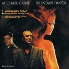 Cine: EL AMERICANO IMPASIBLE. MICHAEL CAINE. BRENDAN FRASER. DVD. Lote 194746565