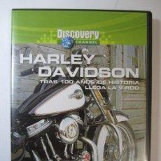 Cine: DVD HARLEY DAVIDSON DISCOVERY CHANNEL TRAS 100 AÑOS DE HISTORIA LLEGA LA V-ROD. Lote 194747267
