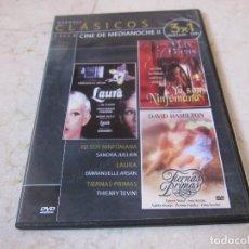 Cine: CICLO CINE MEDIANOCHE II DVD - YO SOY NINFOMANA, LAURA Y TIERNAS PRIMAS. Lote 194747762