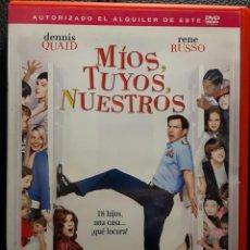 Cine: MIOS TUYOS NUESTROS - DVD - ORGINAL - DESCATALOGADA - RENE RUSSO - DENNIS QUAID - NO CORREOS. Lote 194769087