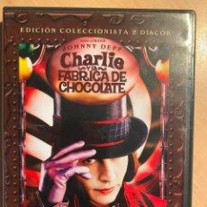 Cine: CHARLIE Y LA FABRICA DE CHOCOLATE. ED. COLECCIONISTA (2DVD). Lote 194786120