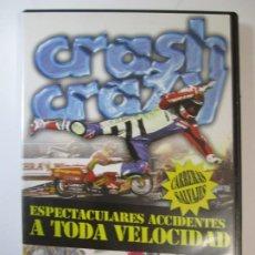Cine: DVD CRASH CRAZY CARRERAS SALVAJES ESPECTACULARES ACCIDENTES A TODA VELOCIDAD DUKE. Lote 194862565