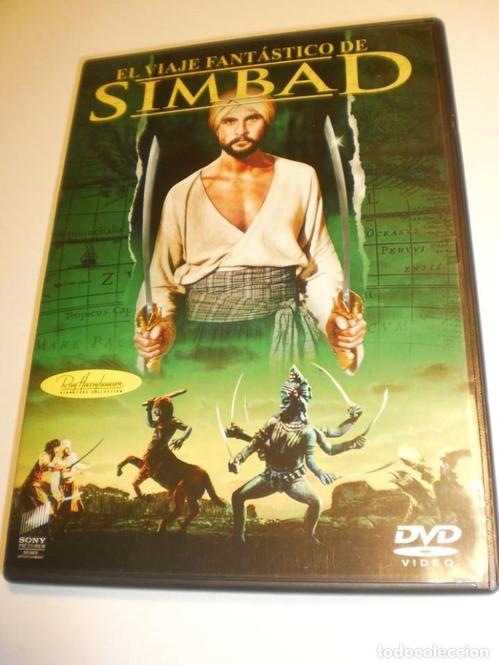 DVD EL VIAJE FANTÁSTICO DE SIMBAD. 100 MIN CON INSERTO (BUEN ESTADO, SEMINUEVO) (Cine - Películas - DVD)