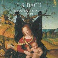 Cine: J S BACH. MESSE EN SI MINEUR. (2 DVD + 2 CD) DVD-6900. Lote 194936146