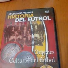 Cine: UN JUEGO DE PASIONES HISTORIA DEL FÚTBOL DVD. Lote 194947386