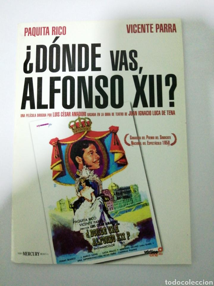 DVD. ¿DONDE VAS, ALFONSO XII? PAQUITA RICO. VICENTE PARRA. VER (Cine - Películas - DVD)