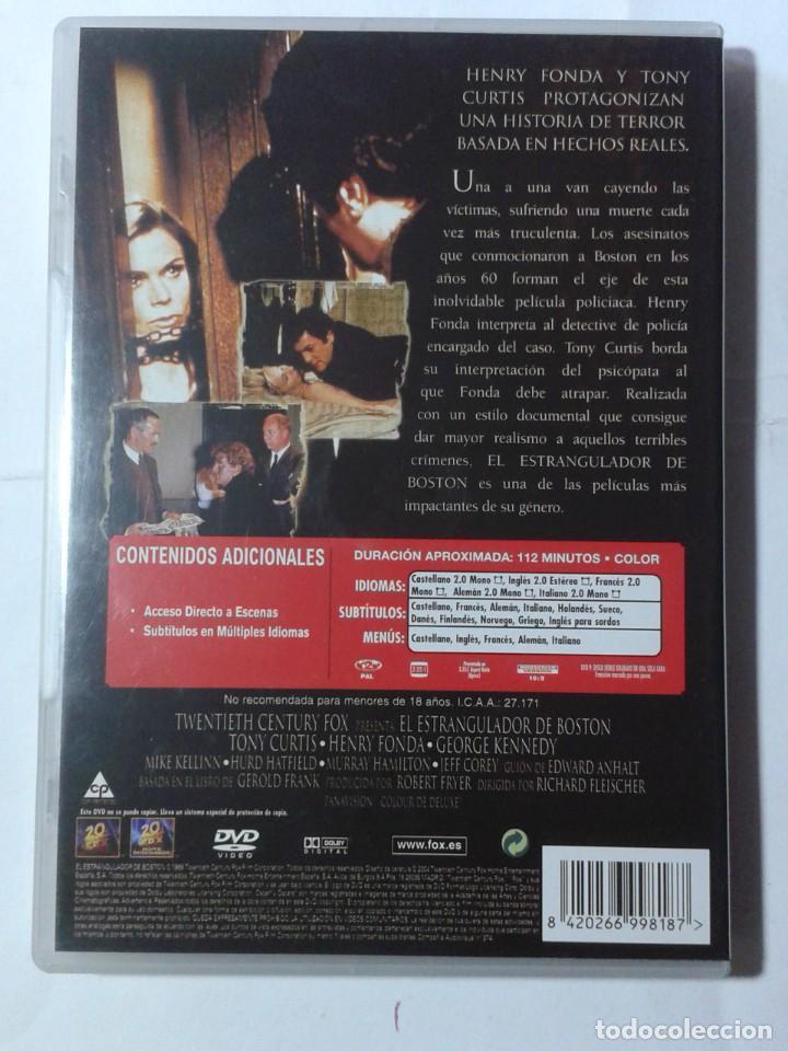 Cine: EL ESTRANGULADOR DE BOSTON- TONY CURTIS- HENRY FONDA- DVD - Foto 2 - 194969897