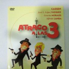 Cine: DVD. ATRACO A LAS 3.PELICULA.CASSEN.LOPEZ VÁZQUEZ. ALFREDO LANDA. GRACITA MORALES. Lote 194970280