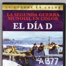 Cine: EL DÍA D. DVD. LA SEGUNDA GUERRA MUNDIAL EN COLOR. DOCUMENTAL. ESTUCHE DELGADO. Lote 195028981