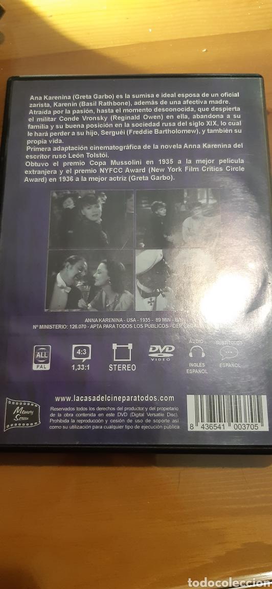 Cine: Pelicula clasica dvd ANA KAREKINA ,1935 - Foto 2 - 195030182