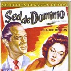 Cine: SED DE DOMINIO DVD SUSAN HAYWARD. Lote 195059112