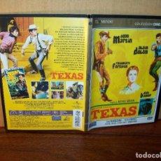 Cine: TEXAS - DEAN MARTIN - ALAIN DELON - DIRIGIDA POR MICHAEL GORDON - DVD CAJA FINA PERIODICO. Lote 195094891