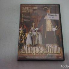 Cine: (16-B) - 1 X DVD / EL MARQUES DEL GRILLO - ALBERTO SORDI, CAROLINE BERG / MARIO MONICELLI. Lote 195110951