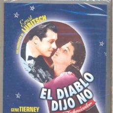 Cine: EL DIABLO DIJO NO DVD ( LUBITSCH) EL MUJERIEGO QUE DESPIERTA EN EL INFIERNO Y ES JUZGADO SEVERAMENTE. Lote 233470170