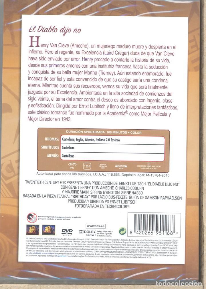 Cine: EL DIABLO DIJO NO DVD ( LUBITSCH) EL MUJERIEGO QUE DESPIERTA EN EL INFIERNO Y es juzgado severamente - Foto 2 - 233470170