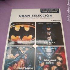 Cine: DVD. PACK BATMAN + BATMAN VUELVE + BATMAN Y ROBIN + BATMAN FOREVER.. Lote 195196498
