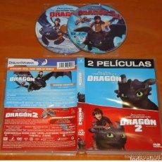 Cine: DVD COMO ENTRENAR A TU DRAGON 1 Y 2. Lote 195242705
