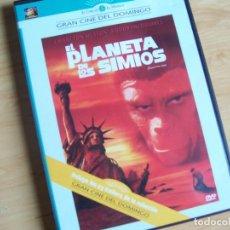 Cine: EL PLANETA DE LOS SIMIOS. PELICULA DVD DE F J SCHAFFNER. CHARLTON HESTON 1968. Lote 195244886