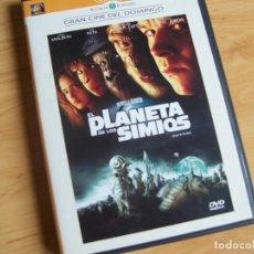 Cine: EL PLANETA DE LOS SIMIOS, DE TIM BURTON. PELICULA DVD. Lote 195244945