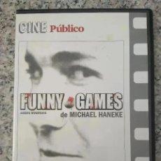 Cine: FUNNY GAMES. JUEGOS DIVERTIDOS. MICHAEL HANEKE. CINE PUBLICO. (DVD). Lote 195251625