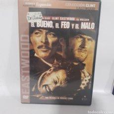 Cine: (DVS 24) EL BUENO EL FEO Y EL MALO ‐ DVD SEGUNDA MANO TAPA FINA. Lote 195261162