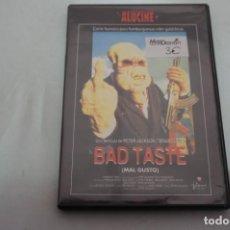 Cine: (3-B4) - 1 X DVD / BAD TASTE - MAL GUSTO / PETER JACKSON. Lote 195331476