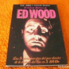 Cine: ED WOOD / EXTRAÑO UNIVERSO 3 DISCOS DESCATALOGADA. Lote 195338618