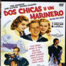 Cine: DOS CHICAS Y UN MARINERO DVD - MUSICAL (CON XAVIER CUGAT) NOMINADO AL OSCAR. Lote 195347592