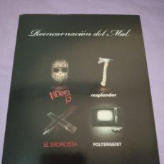 Cine: DVD. PACK POLTERGEIST + EL RESPLANDOR ,+ EL EXORCISTA + VIERNES 13. PACK REENCARNACIÓN DEL MAL.. Lote 195357526