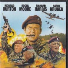 Cine: PATOS SALVAJES [DVD] - RICHARD BURTON / ROGER MOORE / RICHARD HARRIS / HARDY KRUGER. Lote 195369111