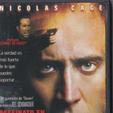 Cine: ASESINATO EN 8 MM - DVD - NICOLAS CAGE . Lote 195378581