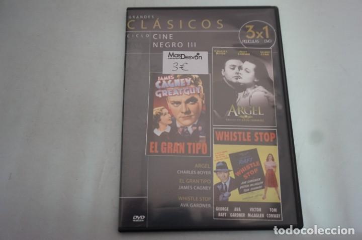 (5-B3) - 1 X DVD / 3 PELICULAS: ARGEL, EL GRAN TIPO, WHISTLE STOP (Cine - Películas - DVD)