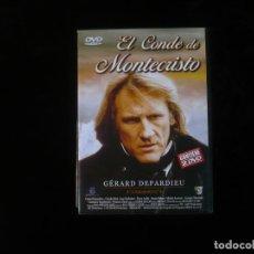 Cine: EL CONDE DE MONTECRISTO - GERARD DEPARDIEU - DURACION 400 MINUTOS EN DOS DVD COMO NUEVOS. Lote 195413342