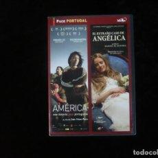 Cine: EL EXTRAÑO CASO DE ANGELICA + AMERICA UNA HISTORIA MUY PORTUGUESA - EN DOS DVD COMO NUEVOS. Lote 195413532