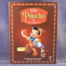 Cine: PINOCHO 70 ANIVERSARIO - EDICIÓN PLATINO - 2 DVD + CUENTO ILUSTRADO. Lote 195453263