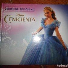 Cine: LA CENICIENTA CUENTO + PELICULA LIBRO + DVD PRECINTADO DISNEY ESPAÑA 2018 PERSONAJES REALES . Lote 195471998