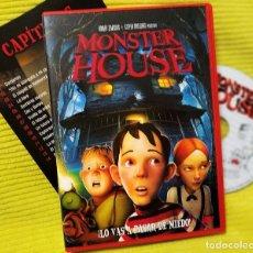 Cine: DVD MONSTER HOUSE, DE GIL KENAN, 2006,COMO NUEVA, SIN USO(NM_NM). Lote 195472023