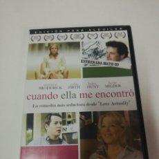 Cine: CUANDO ELLA ME ENCONTRÓ DVD. Lote 195517368