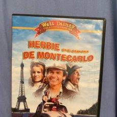 Cine: HERBIE EN EL GRAN PRIX DE MONTECARLO DVD DESCATALOGADO. Lote 195530610