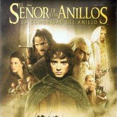 Cine: TODOCOLECCIÓN DVD EL SEÑOR DE LOS ANILLOS LA COMUNIDAD DEL ANILLO ( 2 DISCOS). Lote 195532497