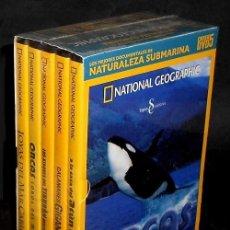 Cine: D1 - NATIONAL GEOGRAPHIC. MEJORES DOCUMENTALES NATURALEZA SUBMARINA. BOX SET PACK 5 DVDS. PRECINTADO. Lote 195539293